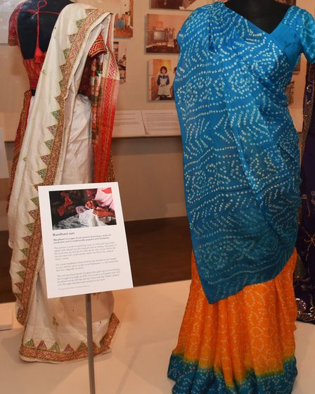 Garments showcased at the museum's India exhibition