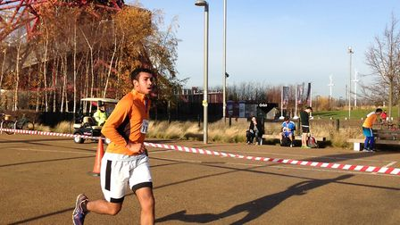 Chris Reid in action during the 2016 Great Newham Run