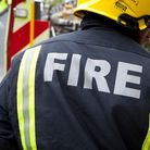 Eleven firefighters brought the blaze under control.