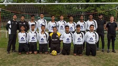 Manor Youth under 14s represented Newham at the Young Stars Showcase Football Event on Sunday (pic: