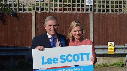 Education secretary Justine Greening supporting Conservative candidate for Ilford North Lee Scott's
