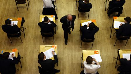Pupils sitting an exam. Picture: David Jones/PA Wire