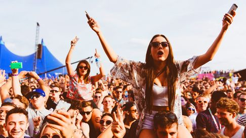 Revellers at last year's festival