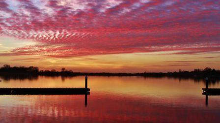 WONDERFUL SUNSET: Peter Salmon's winning Picture of the Week, which was captured at Oulton Broad las