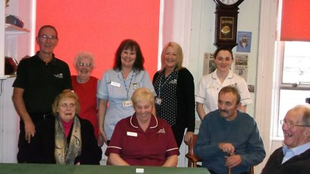 Pictured are staff, volunteers and patients at Lowestoft's Day Hospital on the final day.
