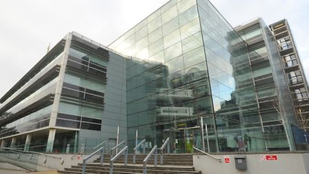 Suffolk County Council is to cut its budget. The council's Endeavour House headquarters in Ipswich.