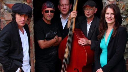The John Ward band who will perform on the Waveney Folk Club stage at Crown Street Hall, Lowestoft.