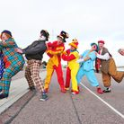 Clowns from around the UK gather in Lowestoft for a week long clown convention.
