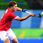 Harry Martin in action at the Rio Olympics (pic Frank Uijlenbroek/England Hockey)