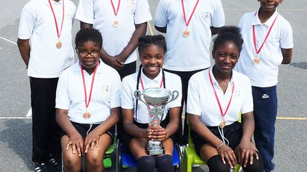 St Joachim's won a key stage two mixed handball competition staged by the Langdon Academy Sport Part