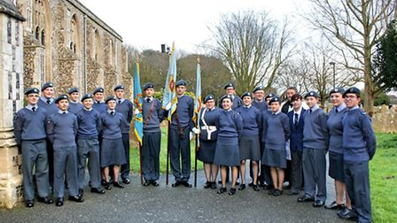 Lowestoft air cadets celebrate the organisation's 75th anniversary.