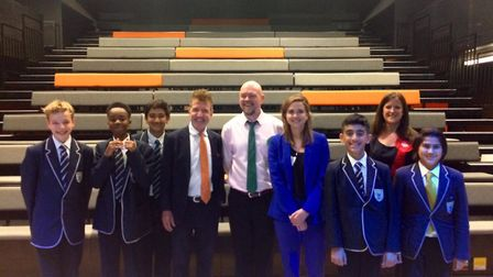 Chobham Academy students with the candidates