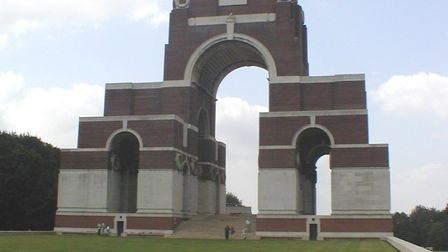The grand monument at the Thiepval Memorial Cemetery in northern France. Photo: Wikimedia Commons/ A