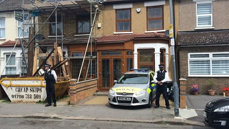 Police have cordoned off a house in Wingate Road, Ilford. Photo: Ellena Cruse