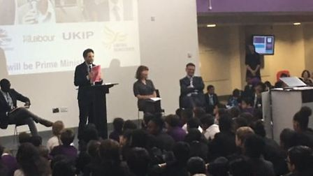 The mock election at School 21 (Picture: @six21_uk)