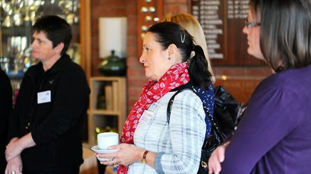Suffolk Business Women launching a series of networking events with tea and cake.The first one was h