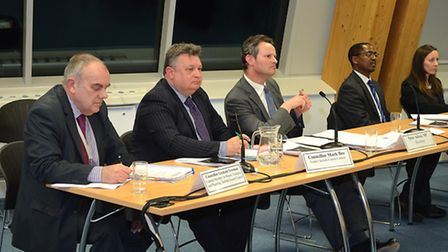 Public meeting on the third crossing in Lowestoft, held at Orbis Energy on Wednesday, February 18. T