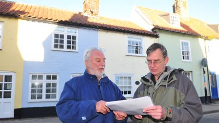 John Perkins and Will Windell are against a planning application to build a giant basement under one