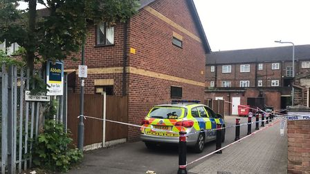 The scene of the murder in Goodmayes. Picture: Rosaleen Fenton