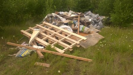 This pile of rubbish was dumped in Atlantis Avenue. Picture: NEWHAM COUNCIL