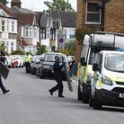 Police at the scene of a terror raid in Christchurch Road Ilford