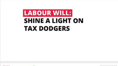 This Labour Facebook ad contains a clear message on tax evasion