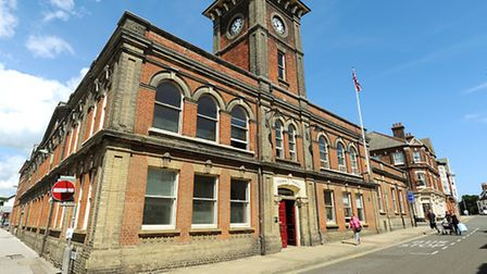 Lowestoft Town Hall on the High Street. The main headquarters of Waveney District Council. Picture: