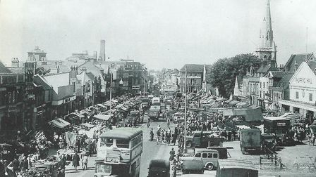 Romford Market in the mid-1930s. Picture: Brian Evans
