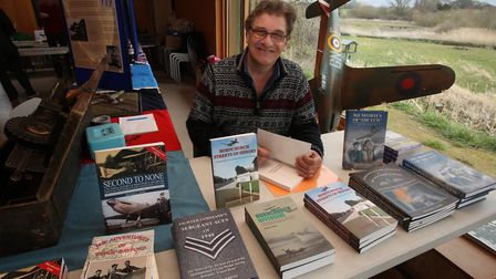 Richard Smith attending an aviation and history event at Ingrebourne Valley Visitor Centre. Picture: