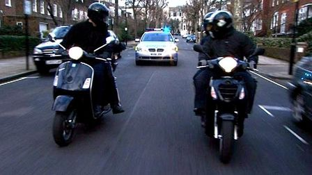 Moped-riding thieves are causing fear and frustrations among residents. Picture: MPS