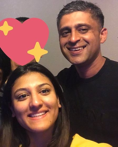 Resham Khan and her cousin Jameel Muhktar just before the attack. PICTURE: GoFundMe