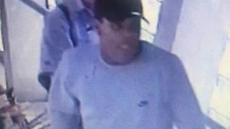 Police would like to speak to this man about an incident at West Ham station (Picture: BTP)