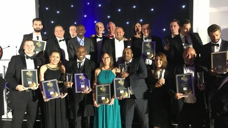 The winners from last year's Thames Gateway Business Awards. Picture: KEN MEARS