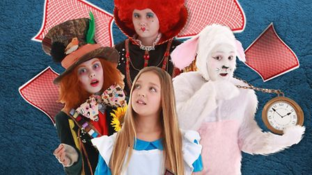 GETTING READY: Members of the B&B Theatre Company are preparing for the performance of Alice in Wond