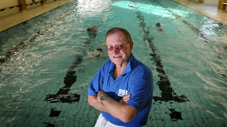 Veteran lifegaurd Peter Dukes during one of his swimming training sessions.Photo: Simon FinlayCopy: