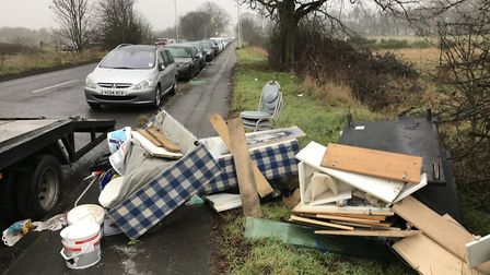 A fly-tip in Centre Road, in Wanstead Flats. Picture: Claudine Taylor