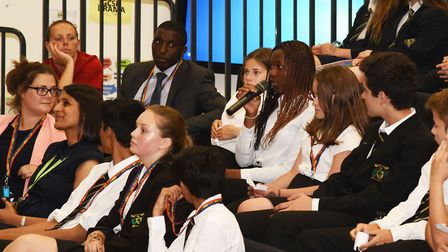 Pupils at Woodbridge High School involved in debates, activities and performances as part of LGBT We