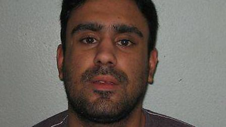 Deep Mann, of Ilford, has be jailed for two years for credit card fraud. Picture: Met Police
