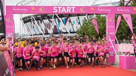Youngsters from Newham and Barking & Dagenham took part in the Go Run For Fun event