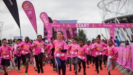 Youngsters at the Go Run For Fun event