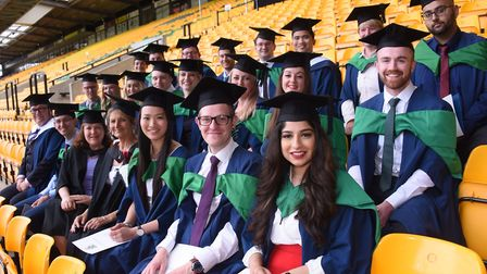 Some of the 2018 cohort of students graduating from university. Photograph: Denise Bradley.