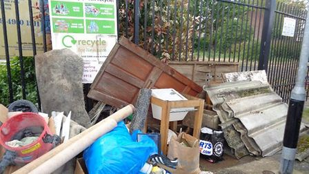 The rubbish was dumped in Millais Avenue. Picture: NEWHAM COUNCIL