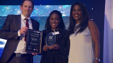 Newham Recorder group editor, Catherine Owiredu-Oppong who was awarded the Newham Recorder-sponsore