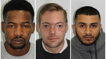 Left to right: Mussa Jalo, Daniel Welch and Zakar Yunas. Picture: MET POLICE
