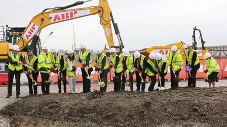 The groundbreaking ceremony at the ABP site (Picture: Melissa Page)