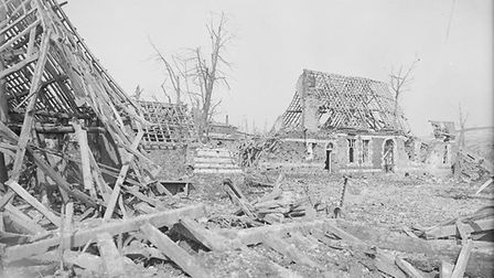 Ruined houses in Irles, March 1917. Photo courtesy of the Imperial War Museum