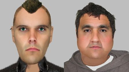 Detectives are releasing two e-fits and appealing for information following an aggravated burglary i