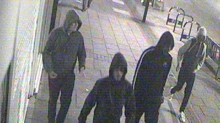 Police would like to speak to these men in connection with an acid attack in Wanstead. Picturet: Met