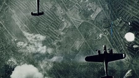 The Luftwaffe bombing the Royal Docks Picture: Newham Archives