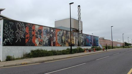 Part of the mural outside Newham University Hospital (Picture: Newham Council)
